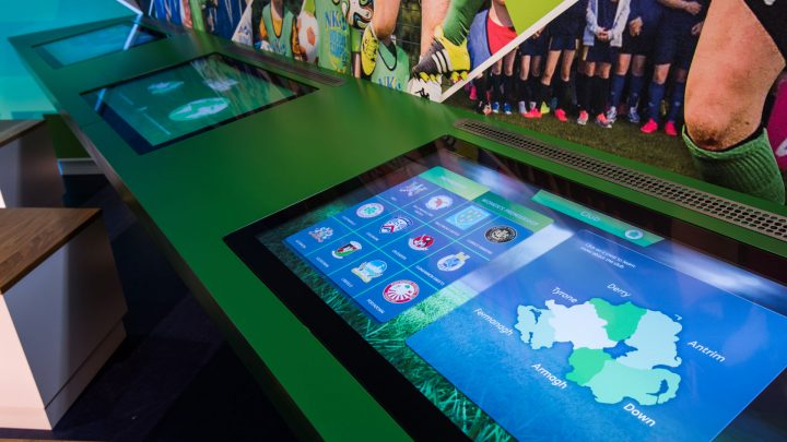 Interactive Touchscreen at IFA Education and Heritage Centre