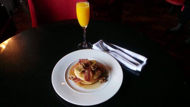 Orange and Pancakes for Breakfast at Berts Jazz Bar