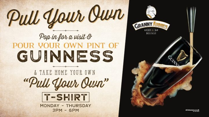 Pull Your Own Pint of Guinness   Granny Annies Belfast