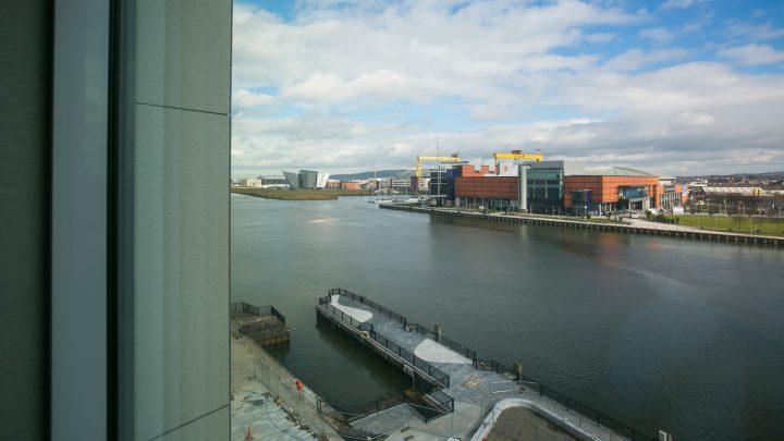 Views of the Titanic Quarter from AC Hotel Belfast AC Hotel Belfast