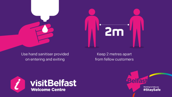 Visit Belfast Welcome Centre Covid Confidence Marks