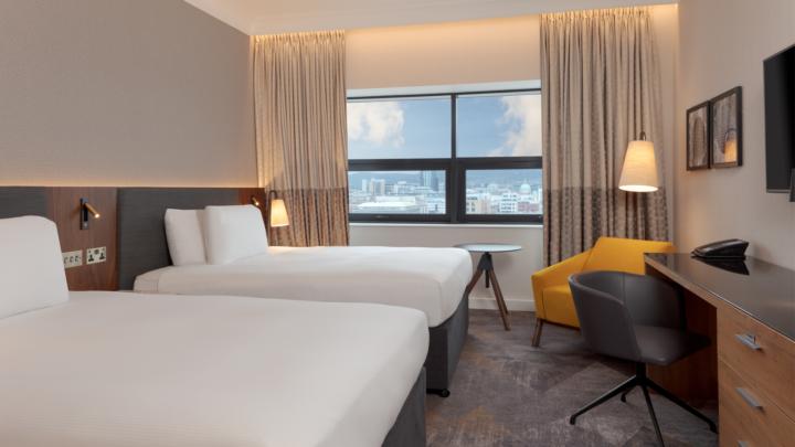 Hilton Hotel Bedroom 2019