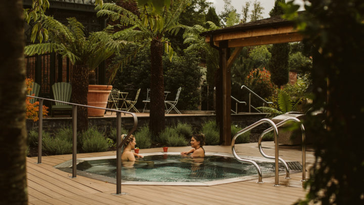 Galgorm Hotel and Spa Hot Tub with Drinks Service